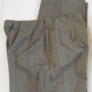 CHICO'S Gray XL Pull-On Pants With Side Zip Career